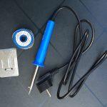 Soldeerbout en soldeertin-met-harskern